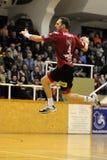 Nagyatad contra o jogo do handball do veszprem Imagem de Stock Royalty Free
