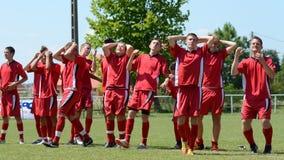 Nagybajom - Liceul bajo juego de fútbol 18 Fotografía de archivo libre de regalías