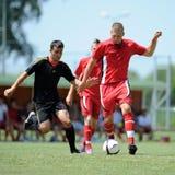 Nagybajom - Liceul under 18 soccer game Stock Photo