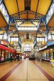 Nagycsarnok el pasillo más grande del mercado de Budapest Fotografía de archivo libre de regalías