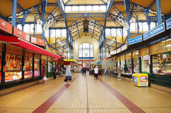 Nagycsarnok the greatest market hall in Budapest Stock Images
