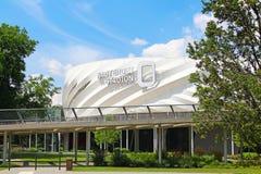 Nagyerdei Futbolowy Stadion w Debrecen, Węgry obrazy stock