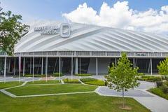 Nagyerdei stadium w Debrecen mieście, Węgry fotografia royalty free