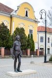 Nagykallo, Hungary, November 19, 2017. Statue of a Hungarian poet Ratko Jozsef. Hungarian history Stock Photography