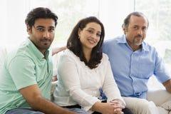 Nahöstliche Paare mit ihrem Sohn Lizenzfreie Stockfotos