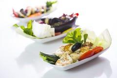 Nahöstliche Teller Halloumi-Salats Stockfoto