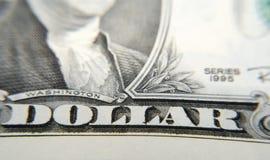 Nah an einem Dollar Lizenzfreie Stockbilder