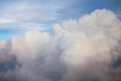 Nah an Wolken Stockbild