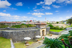 Naha Castle in Okinawa. Naha, Okinawa, Japan at the outer wall of Shuri Castle Stock Images