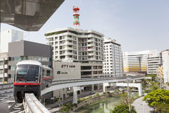 Okinawa City Monorail Line Stock Image