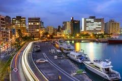 Naha, Okinawa, Japan Cityscape. At the bay stock photography