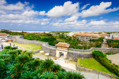 Naha Okinawa Japan. Naha, Okinawa, Japan at the outer wall of Shuri Castle Royalty Free Stock Image