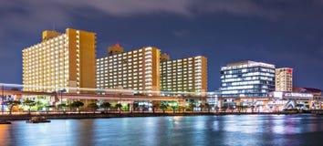 Naha, Okinawa, Japan. Waterfont skyline royalty free stock photo