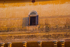 Nahagarh Fort. An old window. Jaipur. India. Royalty Free Stock Photography
