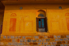 Nahagarh Fort. An old window. Jaipur. India. Stock Image