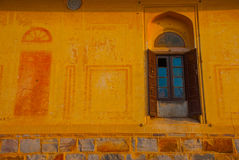 Nahagarh Fort. An old window. Jaipur. India. Royalty Free Stock Images