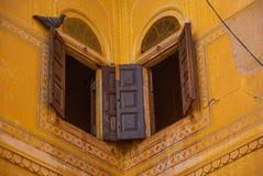 Nahagarh Fort. An old window. Jaipur. India. Stock Photo