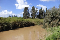 Nahal Alexander stream. Royalty Free Stock Images