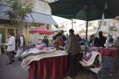 Nahalat Binyamin hand made market Israel stock images