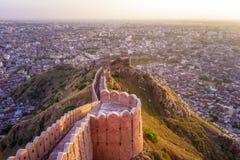 Nahargarh堡垒 免版税库存照片