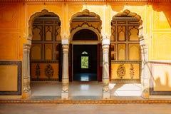 Nahargarh堡垒在斋浦尔,印度 免版税库存照片