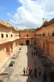 Nahargarh Fort. Arkivfoton