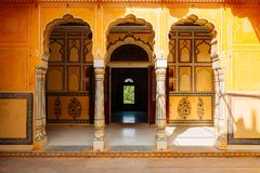 Nahargarh fort i Jaipur, Indien royaltyfri foto