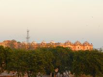 Nahargarh Fort or Tiger Fort from Distance, Jaipur, Rajasthan, India stock photo