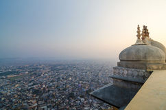 Nahargarh fort and view to Jaipur city Stock Photography