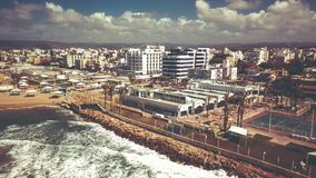 NAHARIYA, ISRAEL 9 DE MARÇO DE 2018: Vista aérea à cidade de Nahariya, Israel Fotografia de Stock Royalty Free
