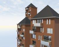 Nahaufnahme überdacht Wohngebäude Lizenzfreies Stockbild
