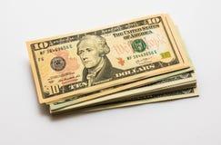 Nahaufnahme-amerikanische Dollar-Banknoten Stockfotografie