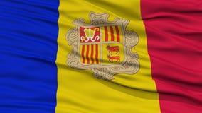 Nahaufnahme-Andorra-Flagge Stockbild
