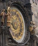 Nahaufnahme astronomischer Uhr Prags u. des x22; Orloj& x22; Lizenzfreie Stockfotos