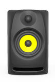 Nahaufnahme-Audio-Sprecher Wiedergabe 3d Stock Abbildung