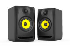 Nahaufnahme-Audio-Sprecher Wiedergabe 3d Vektor Abbildung