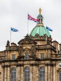 Nahaufnahme auf Bank von Schottland hat der Fassade in Edinburgh Lizenzfreie Stockfotos