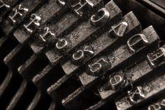 Nahaufnahme auf einer antiken Schreibmaschine Stockfotografie