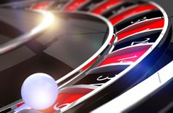 Nahaufnahme auf Roulette-Ball Stockfoto