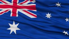 Nahaufnahme-Australien-Flagge lizenzfreie abbildung