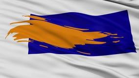 Nahaufnahme-Bergen-Stadtflagge, die Niederlande vektor abbildung