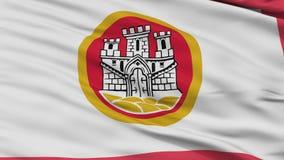 Nahaufnahme-Bergen-Stadtflagge, Norwegen stock abbildung