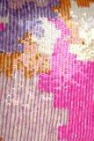 NAHAUFNAHME-Beschaffenheitshintergrund der bunten Sequins Makro Lizenzfreie Stockbilder