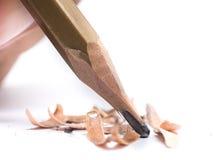 Nahaufnahme-Bleistifttipp auf dem weißen Hintergrund Lizenzfreies Stockfoto