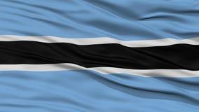 Nahaufnahme-Botswana-Flagge Lizenzfreies Stockbild