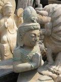 Nahaufnahme-chinesische Statue - Panjiayuan-Antikmarkt Lizenzfreie Stockfotos