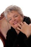 Nahaufnahme der älteren Frau, die Spaß hat Lizenzfreie Stockbilder