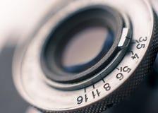 Nahaufnahme der alten Retro- Filmkamera Lizenzfreies Stockbild