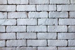 Nahaufnahme der alten schmutzigen weißen Backsteinmauer Lizenzfreies Stockfoto