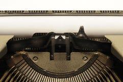 Nahaufnahme der alten Schreibmaschine Stockbild